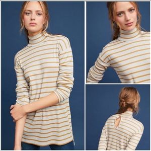 Anthropologie Shine Turtleneck Tunic Top NWT Md